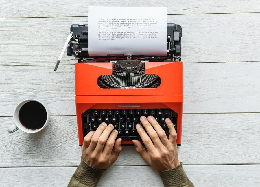 Writing is easy - either on a computer or on a type-writer!