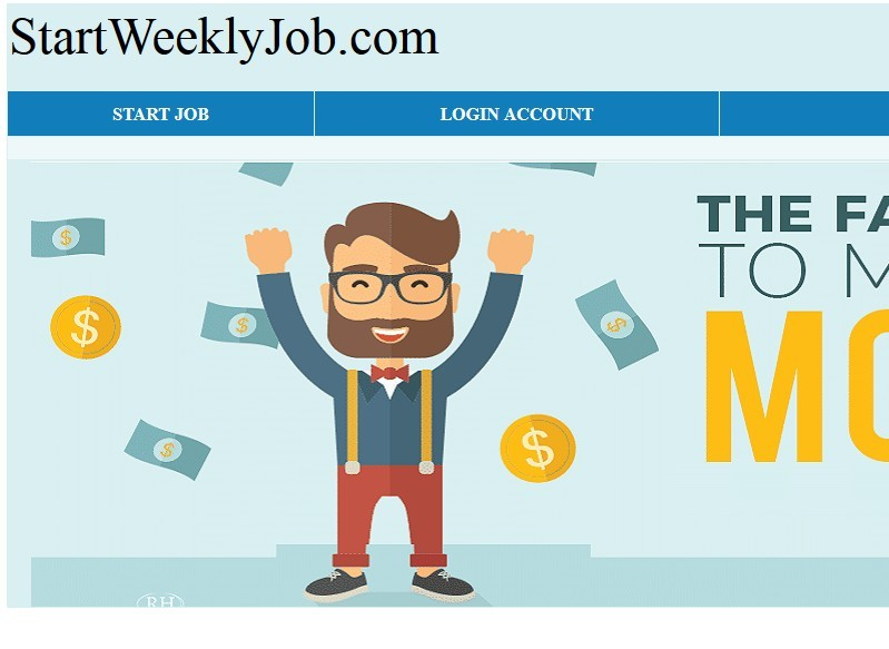 Start Weekly Job Main Page
