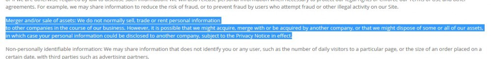 Privacy Policy Clause