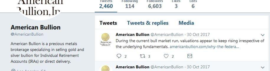American Bullion's Twitter feed