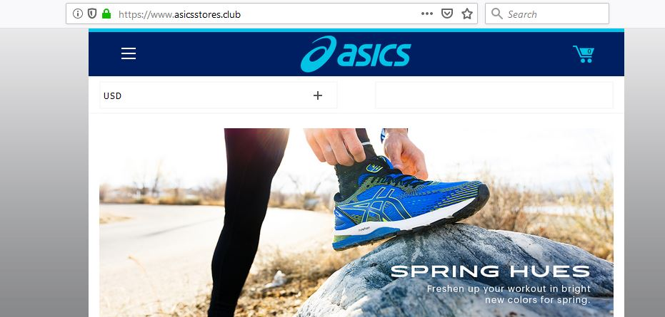 AsicsStores.club's Main Page