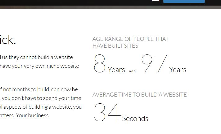 The average time it takes to build  website is 34 seconds at Wealthy Affiliate!