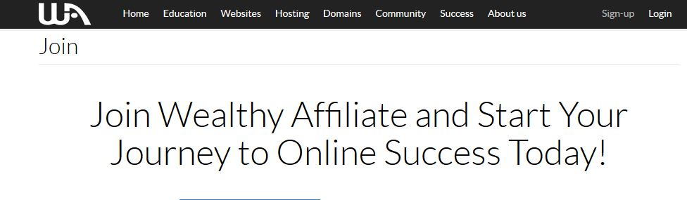 Join Wealthy Affiliate Today!