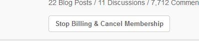 "Click the ""Stop Billing & Cancel Membership"""