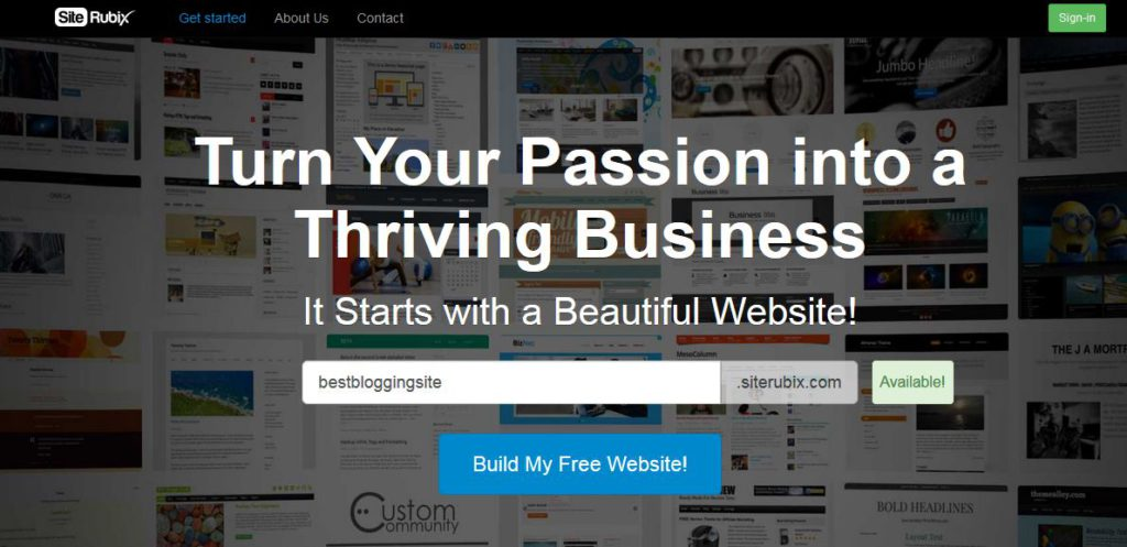 Site Rubix's main page - a place I would recommend creating a website and blogging from.